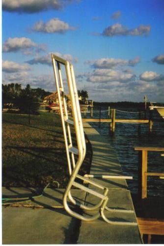 4 Step Ladder Aqua Stairs